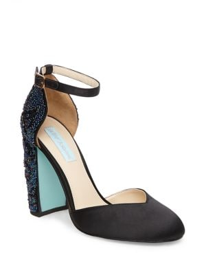 Sybil Beaded Almond-Toe Pumps by Betsey Johnson