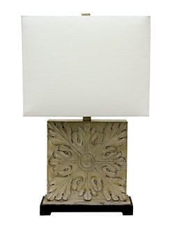 Home home home decor lighting lordandtaylor square carved table lamp cremello product image aloadofball Image collections