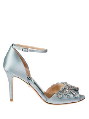 Buy Barker Embellished Stiletto Sandals by Badgley Mischka online