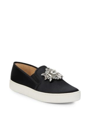 Buy Barre Embellished Slip-On Sneakers by Badgley Mischka online