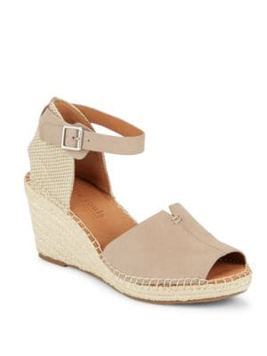 Charli Leather Espadrille Wedge Sandals by Gentle Souls