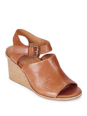 Gerry Leather Wedge Sandals by Gentle Souls