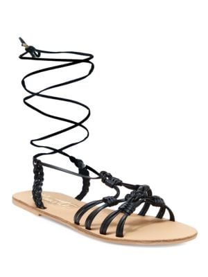 June Knotted Lace-Up Flats by Nanette By Nanette Lepore