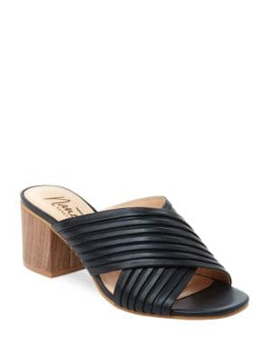 Ray Leather Double Strap Slip-On Sandals by Nanette By Nanette Lepore
