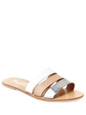 Jade Three-Strap Slip-On Sandals by Nanette By Nanette Lepore