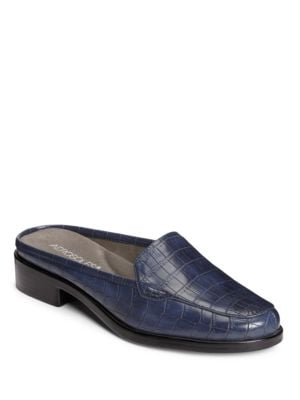 Best Wished Embossed Faux-Leather Slip-On Sandals by Aerosoles
