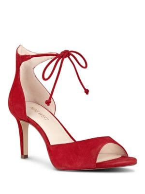 Inesia Suede Sandals by Nine West