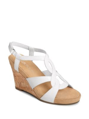 Buy Fabuplush Faux-Leather Slingback Wedge Sandals by Aerosoles online
