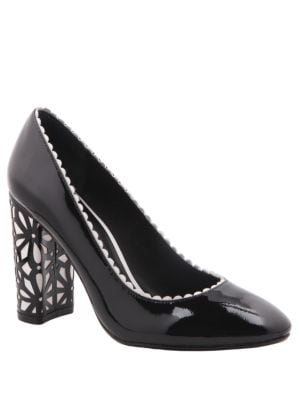 Idra Lasercut Patterned Heels by Nina
