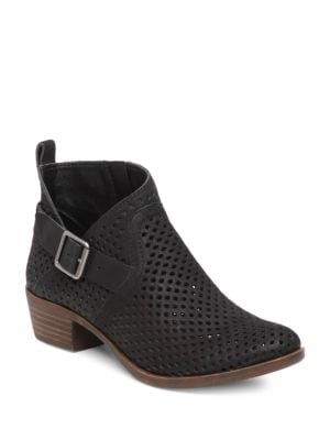 Bartonn Perforated Leather Booties by Lucky Brand