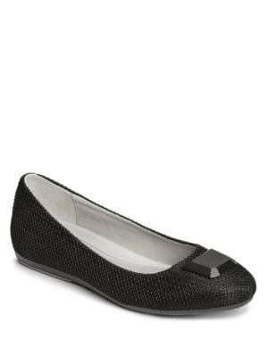 Spin Off Woven Ballet Flats by Aerosoles
