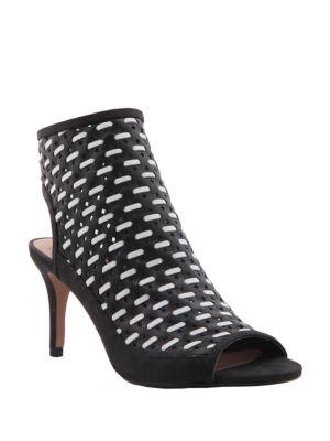 Kristene Leather Peep Toe Booties by Nina
