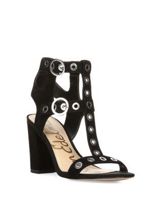 Eyda Suede T-Strap Sandals by Sam Edelman