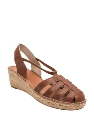 Desi Leather Espadrille Sandals by Andre Assous