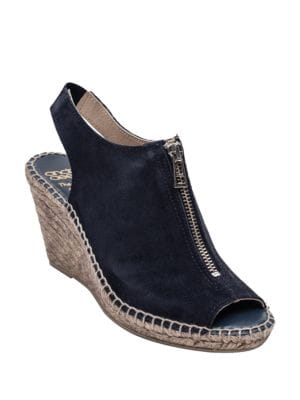 Rhea Suede Espadrille Wedge Sandals by Andre Assous