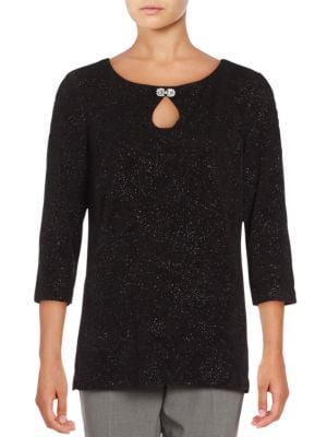 Embellished Keyhole Top by Alex Evenings