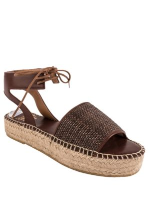 Sage Leather Espadrille Sandals by Andre Assous