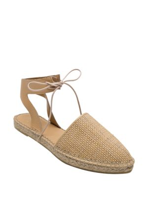 Vixen Woven-Leather Espadrille Flats by Andre Assous