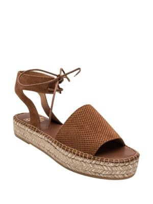 Sabina Suede Flatform Espadrille Sandals by Andre Assous