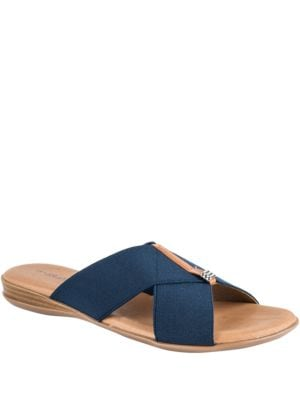 Nani Stacked Elastic Sandals by Andre Assous