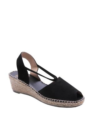 Dainty Peep-Toe Espadrilles by Andre Assous