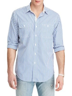 Striped Cotton Workshirt by Polo Ralph Lauren