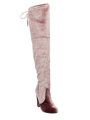 Gorgeo Velvet Over-The-Knee Boots by Steve Madden