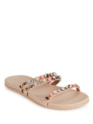 Slim Brim Embellished Slip-On Sandals by Kenneth Cole REACTION