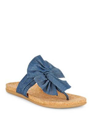 Slim Gal Denim Bow Thong Sandals by Kenneth Cole REACTION
