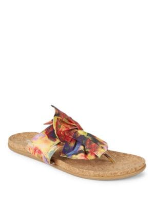 Slim Gal Printed Bow Sandals by Kenneth Cole REACTION