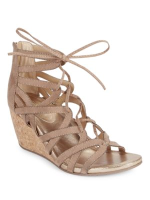 Cake Pop Caged Microsuede Wedge Sandals by Kenneth Cole REACTION