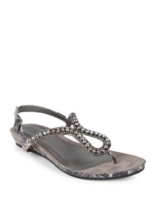 Lost Star Embellished Snake Print Wedge Sandals by Kenneth Cole REACTION
