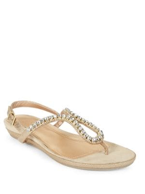 Lost Star Embellished Flat Sandals by Kenneth Cole REACTION