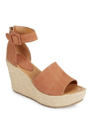 Sole Quest Platform Nubuck Wedge Sandals by Kenneth Cole REACTION