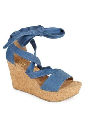 Solerise Lace-up Wedge Sandals by Kenneth Cole REACTION