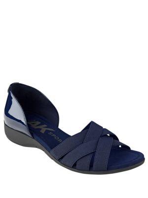 Keira Criss Cross Sandals by Anne Klein