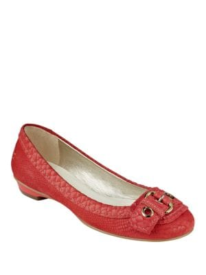 Buy Mady Reptile Textured Leather Pumps by Anne Klein online