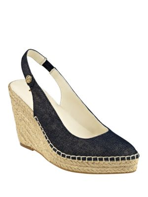Varya Demme Slingback Wedge Sandals by Anne Klein