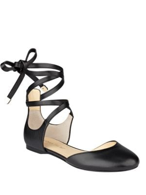 Elsie Leather d'Orsay Flats by Ivanka Trump