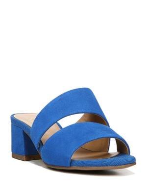 Tallen Block Heel Leather Sandals by Franco Sarto