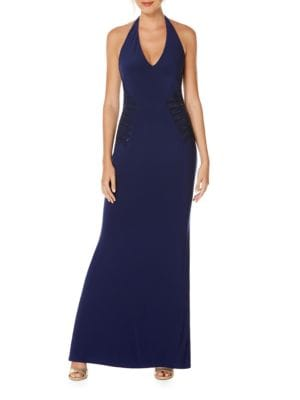 Embellished Halter Gown by Carmen Marc Valvo