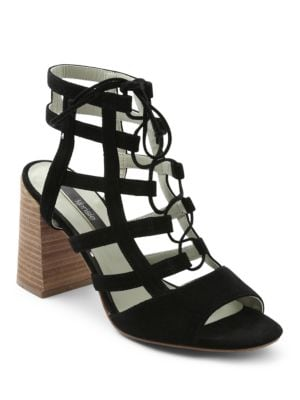 Shawna Lace-Up Caged Sandals by Kensie