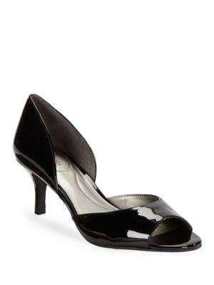 Nubilla Patent Open Toe Heels by Bandolino