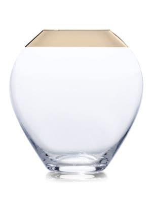 Serenity Gold Urn Glass Vase