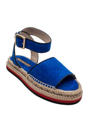 Estrella Espadrille Trim Platform Sandals by Andre Assous