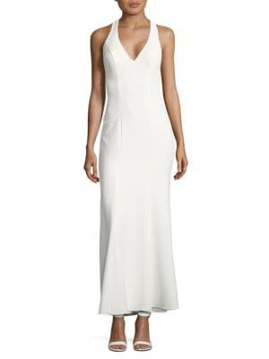 Solid T-Back Gown by Xscape