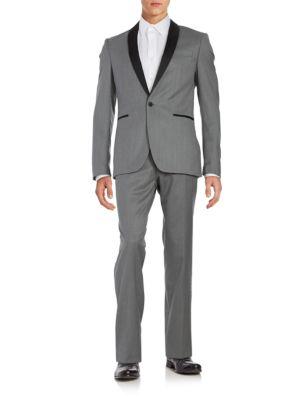 Mason Collection Slim-Fit Shawl-Lapel Jacket by Tallia Orange