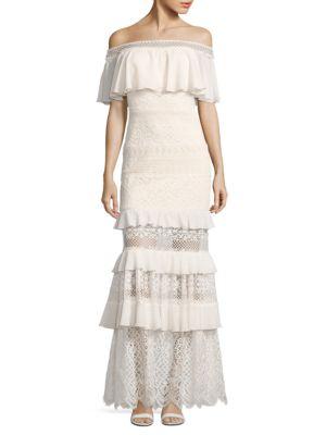 Tiered Ruffle Dress by Tadashi Shoji