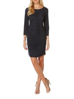 Faux Suede Lace-Up Dress by Laundry by Shelli Segal