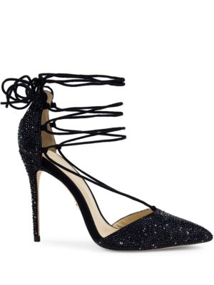 Cleopatra Crystal-Embellished Leather Pumps by Jl By Judith Leiber